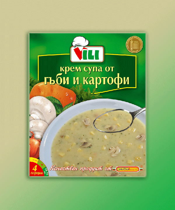 "CREAM SOUP -MUSHROOMS & POTATOES ""VILI"""
